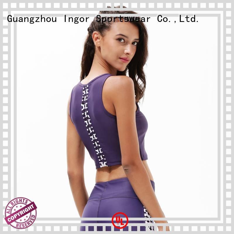 wireless sports bra blue INGOR company