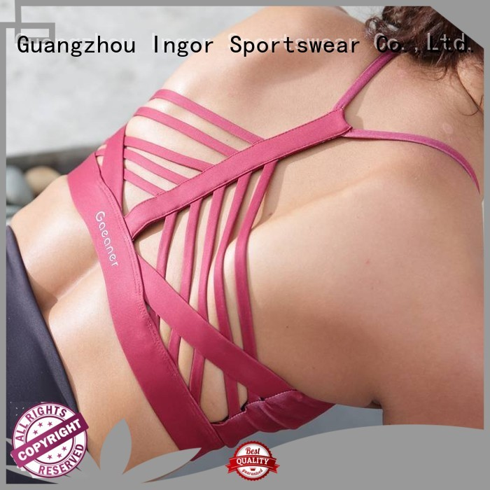 INGOR Brand wireless comfortable colorful sports bras