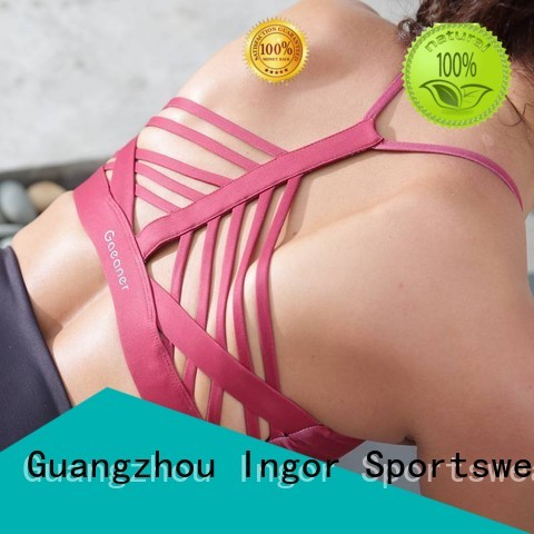 wireless quality INGOR Brand colorful sports bras factory