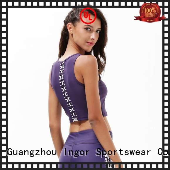 colorful sports bras zip neck patterned INGOR Brand sports bra