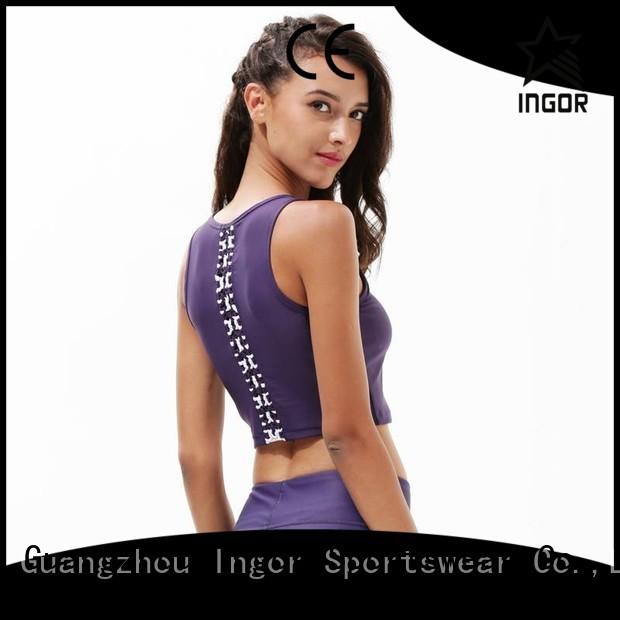 bra strap ladies sports bra red INGOR