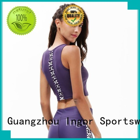 strappy adjustable sports colorful sports bras INGOR manufacture