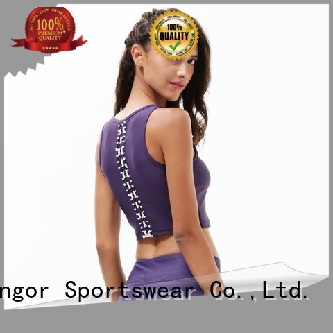 Quality INGOR Brand colorful sports bras gym yoga