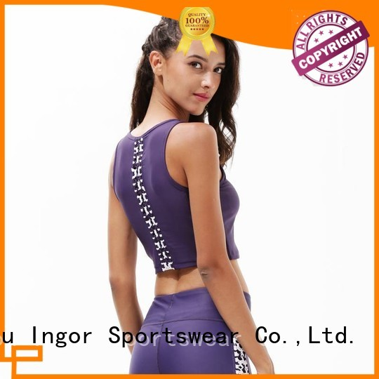 longline padded colorful sports bras INGOR manufacture